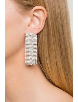 Statement Rhinestone Fringe Drop Earring by A'gaci