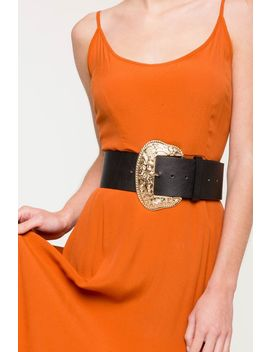 Oversized Buckle Waist Belt by A'gaci