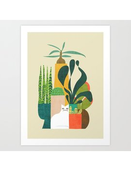 Still Life With Cat Art Print by