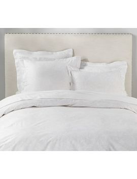 Monique Lhuillier Aster Lace Print Organic Duvet Cover & Sham by Pottery Barn