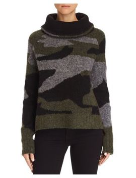 Camo Cowl Neck Sweater   100 Percents Exclusive by Aqua
