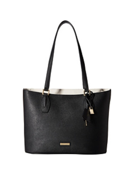Brooke Saffiano Leather Top Zip Tote by Calvin Klein