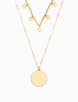Double Layer Coin Pendant by Kate Spade
