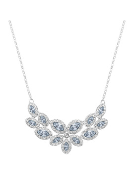 Baron Necklace, Blue, Rhodium Plating by Swarovski