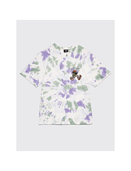 Stüssy Mr Natty Tie Dye T Shirt White / Purple by Très Bien