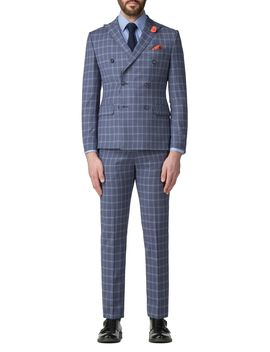 Adams Check Double Breasted Jacket by Aston & Gunn