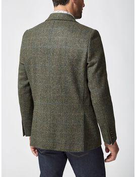 Large Herringbone Check Jacket by Simon Carter