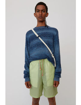 Striped Sweater Denim Blue Melange by Acne Studios