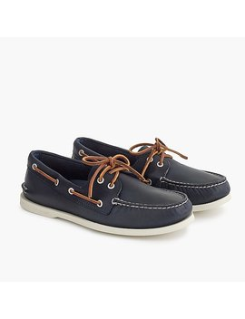 Sperry® For J.Crew Authentic Original 2 Eye Boat Shoes In Leather by Sperry
