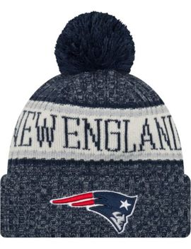 New Era Men's New England Patriots Sideline Cold Weather Navy Sport Knit by New Era