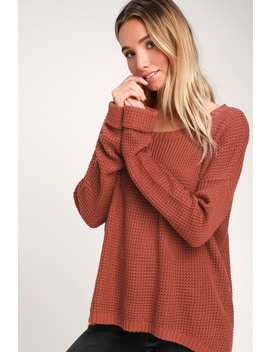Downtown Marsala Oversized Sweater by Minkpink