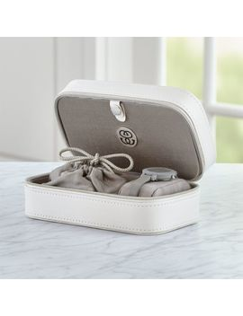 Agency Small Ivory Jewelry Box by Crate&Barrel