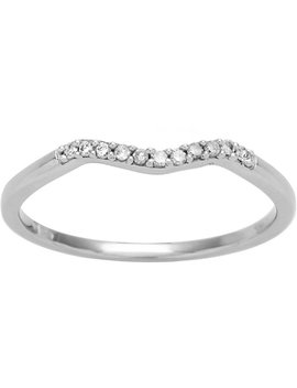 Miadora 10k White Gold Diamond Accent Curved Wedding Band by Miadora