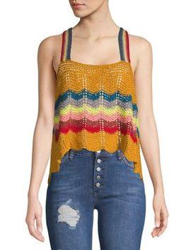 Crochet Rainbow Tank Top by Free People