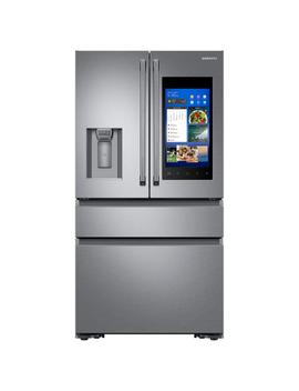 22.2 Cu. Ft. Family Hub 4 Door French Door Polygon Handle Smart Refrigerator In Stainless Steel, Counter Depth by Samsung