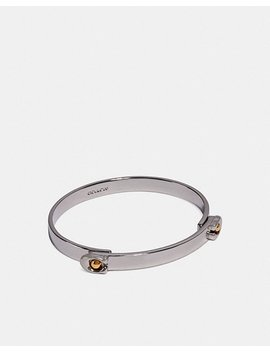 Sculpted Signature Tension Hinged Bangle by Coach