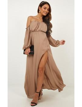 Trust Forever Dress In Mocha by Showpo Fashion