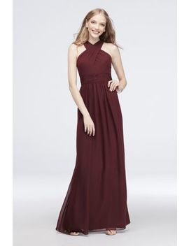 Cross Front Chiffon Bridesmaid Dress by Reverie