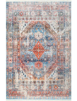 Edessa Olden Tribal Medallion Fringe by Rugs Usa