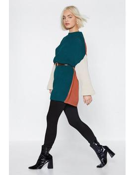 Round The Colorblock Oversized Sweater by Nasty Gal