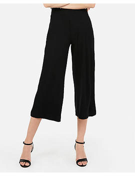 High Waisted Cropped Wide Leg Pant by Express