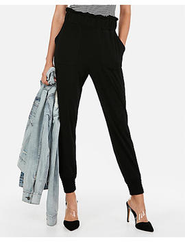 High Waisted Ruffle Waist Jogger Pant by Express