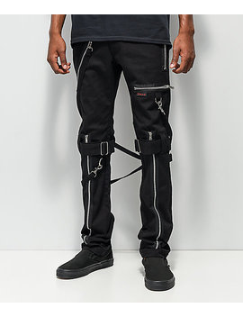 Tripp Nyc Slim Black Bondage Pants by Tripp Nyc