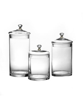 Glass Canisters With Knobs (Set Of 3) by Style Setter   Soho