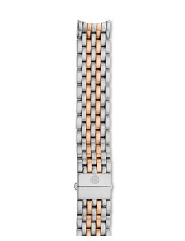 Serein Two Tone Stainless Steel & Rose Gold 7 Link Watch Bracelet, 16mm by Michele