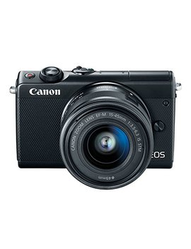 Canon Eos M100 Mirrorless Camera W/15 45mm Lens   Wi Fi, Bluetooth, And Nfc Enabled (Black) by Canon