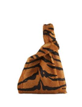Furrissima Tiger Goat Fur Shopper Tote Bag by Simonetta Ravizza