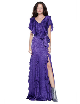 Tessa Ruffle Godet Maxi Dress by Alice And Olivia