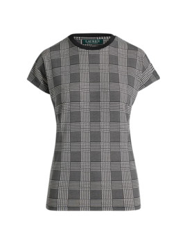 Plaid Jersey T Shirt by Ralph Lauren