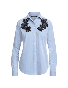 Lace Patch Cotton Shirt by Ralph Lauren