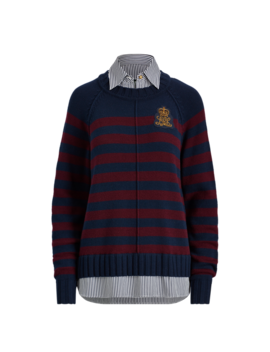 Striped Layered Shirt by Ralph Lauren