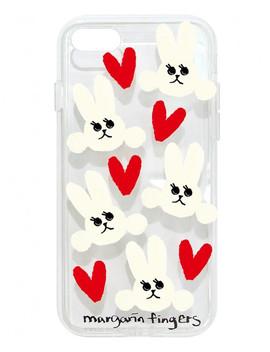 Heart Rabbit Case by Margarin Fingers