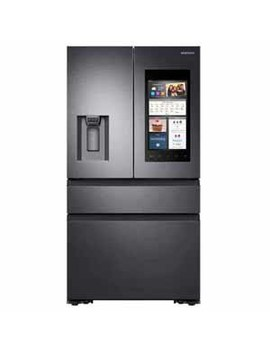 Samsung 22 Cu Ft. 4 French Door Refrigerator With Recessed Handles   Black Stainless Steel by Samsung