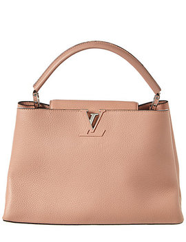 Louis Vuitton Pink Taurillon Leather Capucines Mm by Louis Vuitton