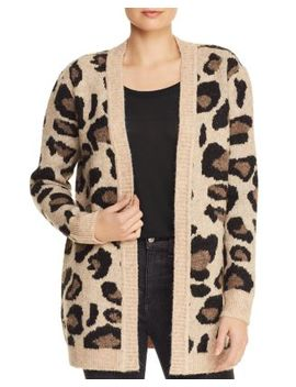 Leopard Open Front Cardigan   100 Percents Exclusive by Aqua