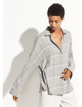 Bar Plaid Popover by Vince