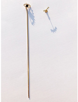 Black Serpentine Eye Drop Earrings by Contempo.H
