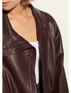 Asymmetrical Leather Jacket by Vince