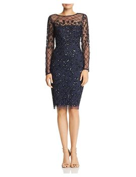 Embellished Sheath Dress by Adrianna Papell
