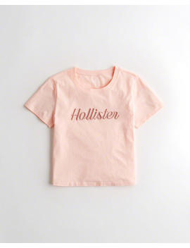 Crop Logo T Shirt by Hollister