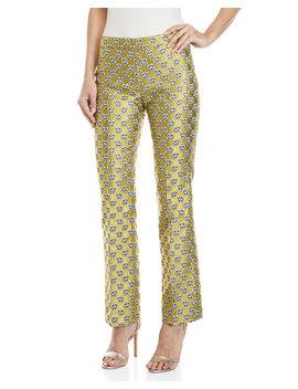 Floral Jacquard Pants by Giamba