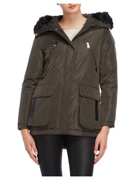 Faux Fur Trim Hooded Parka by Century 21