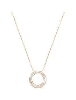 Hilt Necklace, White, Rose Gold Plating by Swarovski