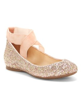 Champagne Mandayss Flat   Women by Jessica Simpson Collection