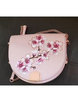 Ted Baker Susy Soft Blossom Leather Shoulder Bag, Light Pink by Ebay Seller
