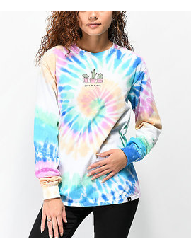 Jv By Jac Vanek Don't Be A Prick Tie Dye Long Sleeve T Shirt by Jv By Jac Vanek